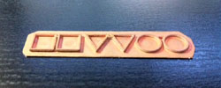 箔押し銅板