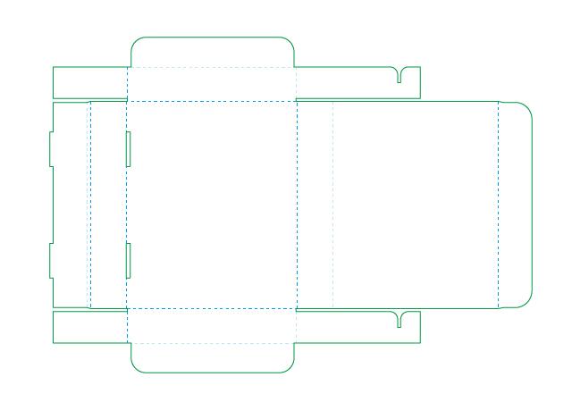 N式 組立箱の展開図