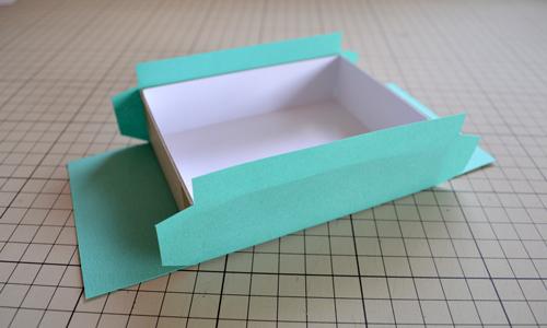 箱の長手側面の貼り
