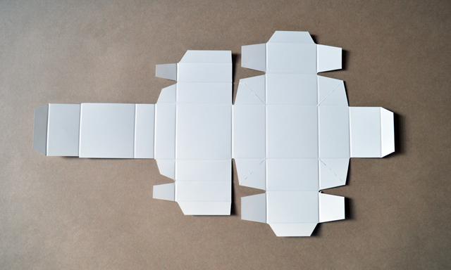 フタ一体型の組立箱1