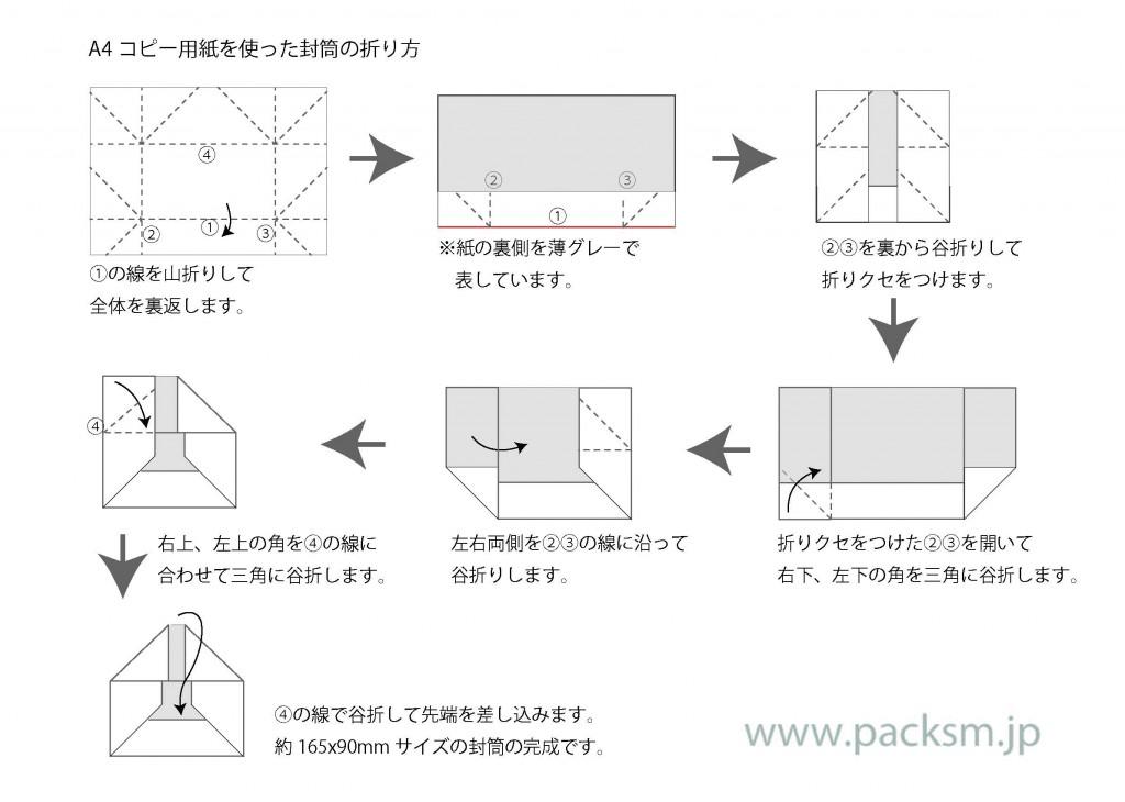封筒の折り方手順一覧