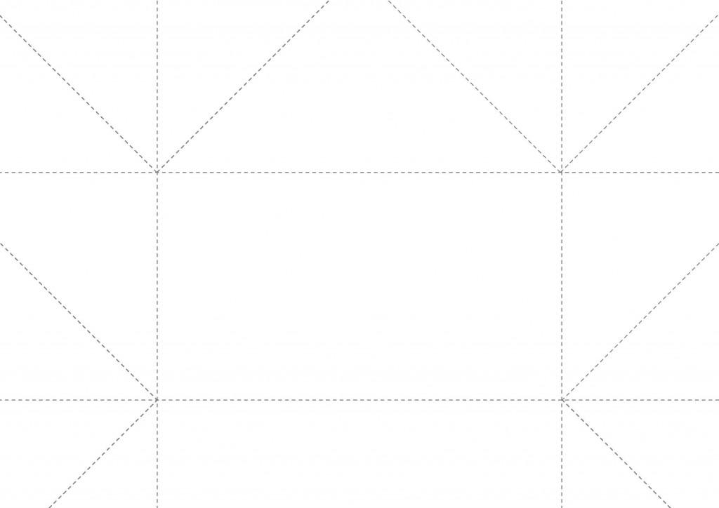 封筒の折り方テンプレート