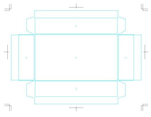 貼箱の図面テンプレート