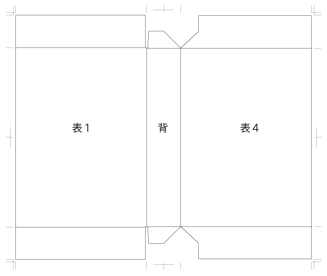 天地貼りブックケース・三方背の図面