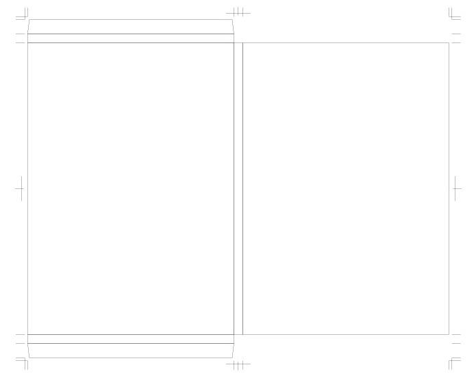 薄型ブックケースの図面