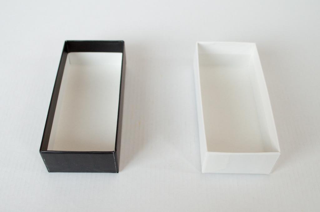 黒と白の貼箱
